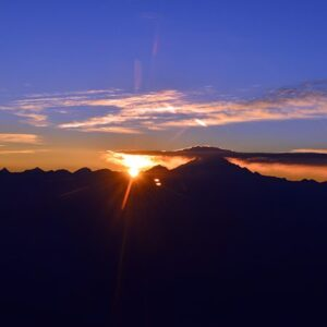 Andes Sunrise Over Mt Aconcagua